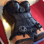 Las-Vegas-Black-Leather-Rose-Bachelor-female-Torso-cake