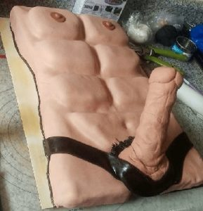 Decator-Georgia-Dog-Gone-Dong-Male-Torso-Erotic-Cake